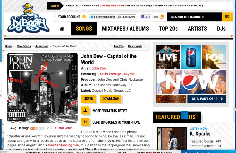 John Dew Debut on DJ Booth